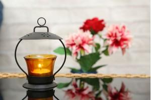 Glass Tea Light Holder- Yellow Color