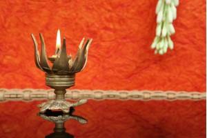 Lotus Shape Diya: Brass