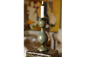 Paper Mache Candle Stand
