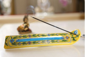 Blue Pottery Incense Stick Stand