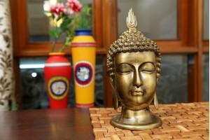 Brass Figurine Buddha Head