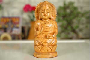 Wood Carved Buddha Statue