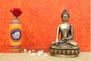 Lord Buddha Idol Carved In Brass
