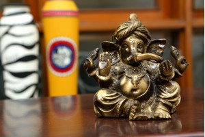 Brass Crafted Ganesha In Pagdi