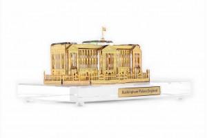 Buckingham Palace Crystal 24 karat Gold Plated-12 ...