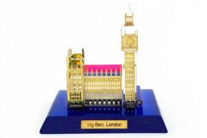 Big Ben Crystal 24 karat Gold Plated-7 Cm