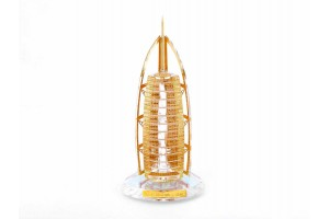 Burj-Al-Arab Crystal 24 karat Gold Plated-15 Cm