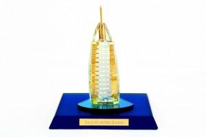 Burj-Al-Arab Crystal 24 karat Gold Plated-8 CM