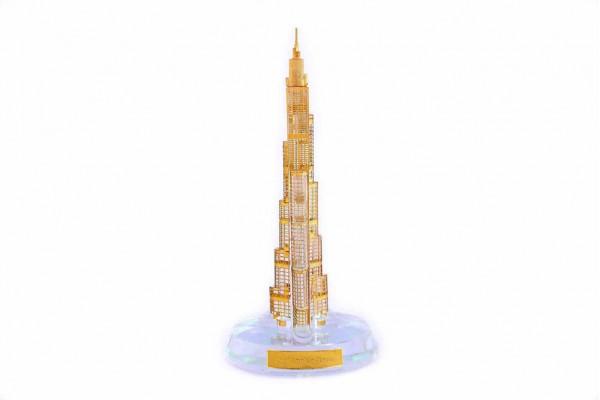 Burj Khalifa Crystal 24 karat Gold Plated-15 CM