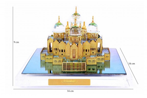 Akshardham Temple Crystal 24 karat Gold Plated -9 Cm