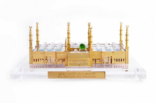 Al-Masjid-Al-Nawabi(madina) Crystal 24 karat Gold Plated-12 Cm
