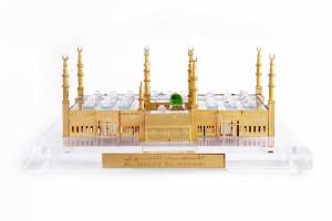 Al-Masjid-Al-Nawabi(Madina) Crystal 24 karat Gold ...