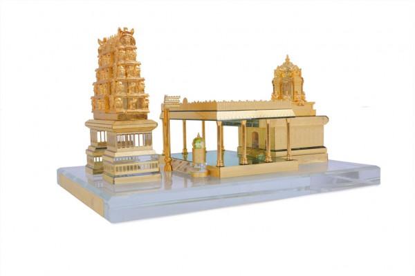 Tirupati Balaji Temple Crystal 24 Karat Gold Plated-16 Cm