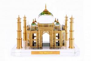 Taj Mahal Crystal 24 Karat Gold Plated-14 Cm