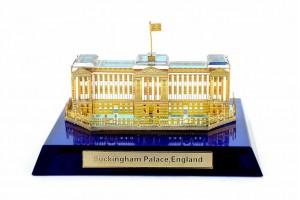 Buckingham Palace Crystal 24 karat Gold Plated-7 C...