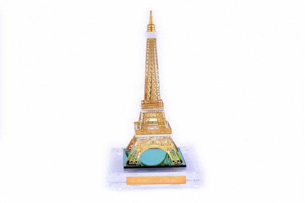 Eiffel Tower Crystal 24 karat Gold Plated-13 Cm
