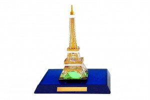 Eiffel Tower Crystal 24 karat Gold Plated-9 CM