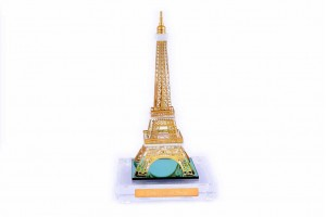 Eiffel Tower Crystal 24 karat Gold Plated-28 Cm
