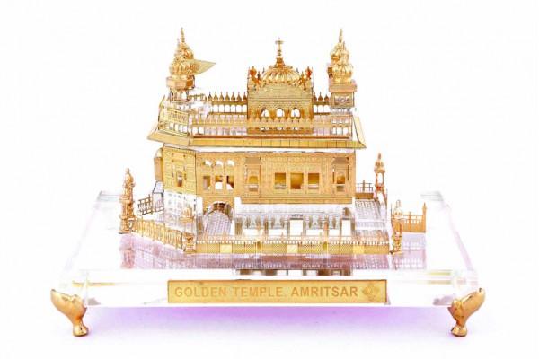 Golden Temple Crystal 24 karat Gold Plated-17 Cm