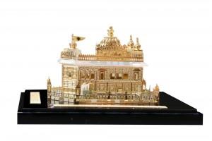 Golden Temple Crystal 24 karat Gold Plated-8 Cm
