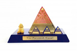 Egyptian Pyramid Crystal 24 Karat Gold Plated-12 C...