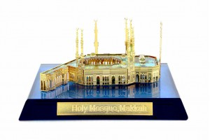 Masjid-al-Haram(Makkah) Crystal 24 Karat Gold Plat...