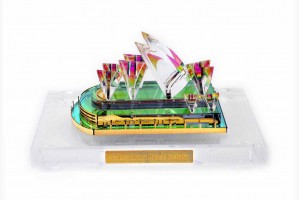 Sydney Opera House Crystal 24 Karat Gold Plated-12...