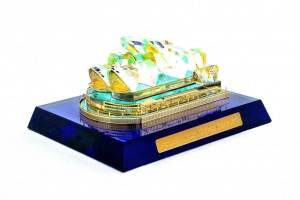 Sydney Opera House Crystal 24 Karat Gold Plated-7 ...