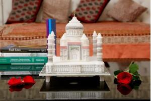 Marble Crafted Colorful Taj Mahal-24 cm