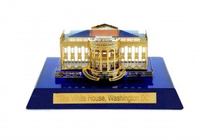 White House Crystal 24 Karat Gold Plated-7 cm