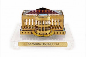 White House Crystal 24 Karat Gold Plated-9 cm