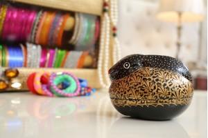 Jewellery Box Paper Mache: Rabbit shaped
