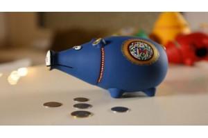 Piggy Bank Blue: Terracotta