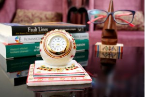 Marble Table Clock