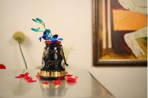 Terracotta A-Shape Jute Vase -15 cm