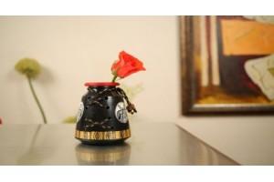 Terracotta A-Shape Jute Vase-12 cm
