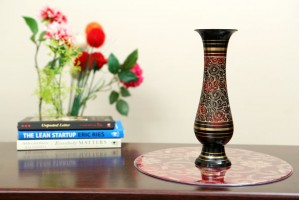 Brass Vase With Lacquer Polish