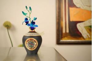 Terracotta Matki Shape Neck Vase-15 Cm
