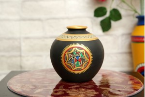 Terracotta Matki Shape Vase-12 cm