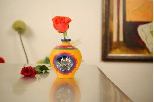 Terracotta Matki Shape Vase-13 cm