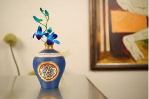 Terracotta Matki Shape Vase-15 cm