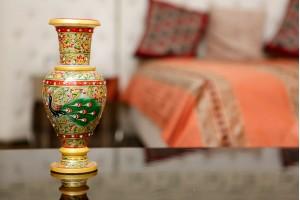 Marble Vase With Narrow Bottom