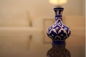 Blue Pottery Surahi